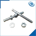 Wedge bolt with standard nut and washer
